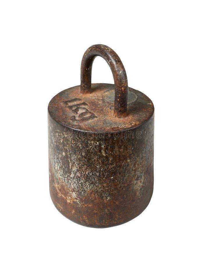 Poids métrique de vieux fer, 1 kilogramme photos stock