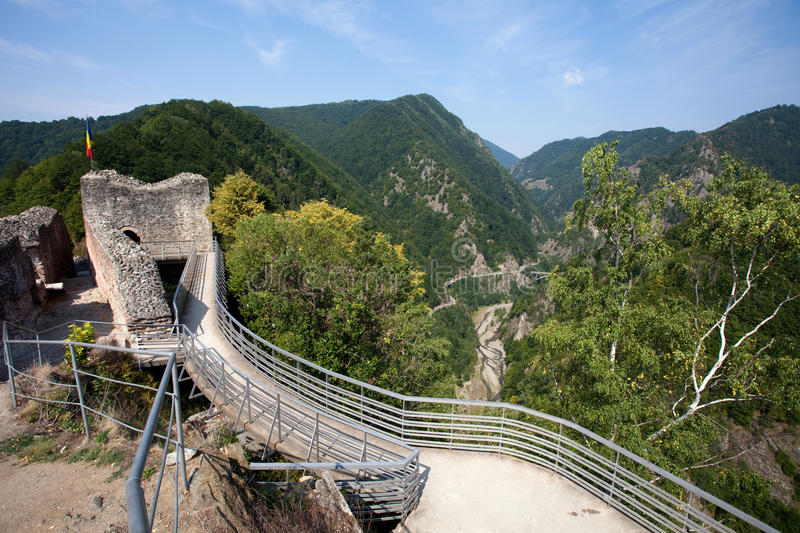 Poienari fortress royalty free stock images