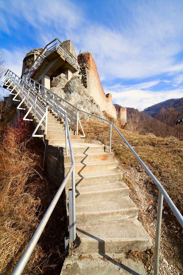 Poienari fortress of Dracula royalty free stock photos