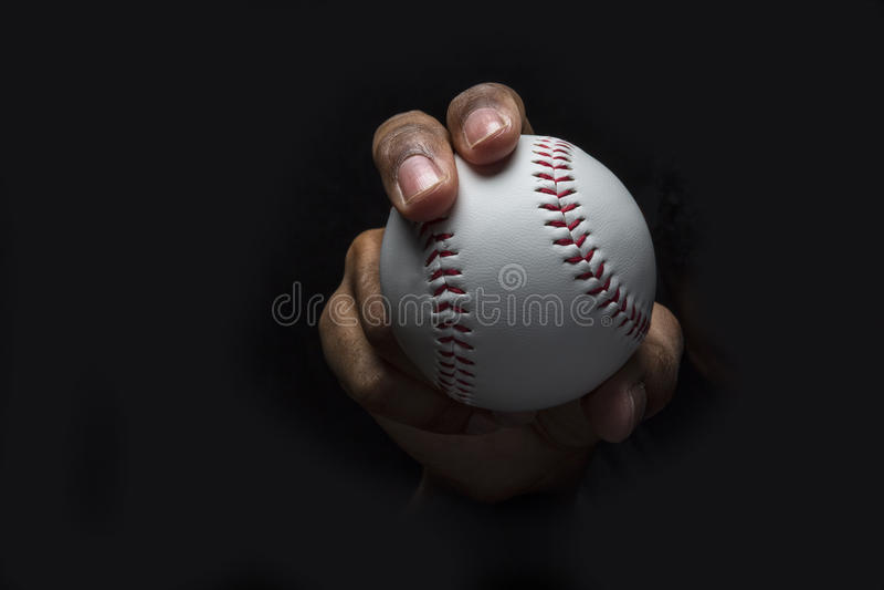 Poignée de Curveball de base-ball images libres de droits