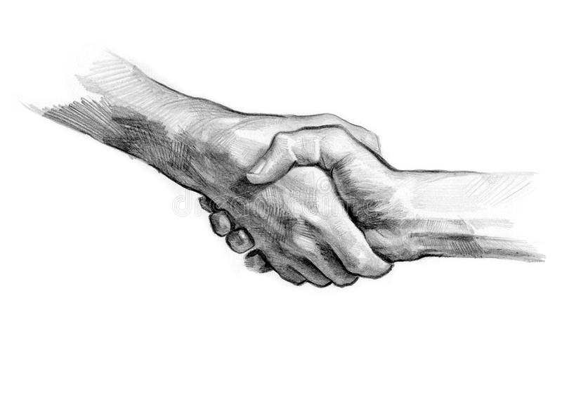 Poignée de main illustration stock