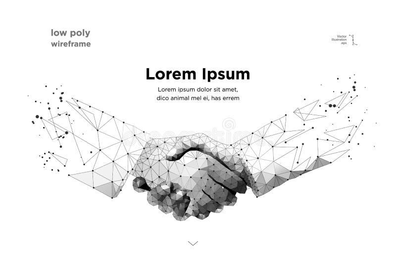 Poignée de main Blockchain Vecteur illustration stock