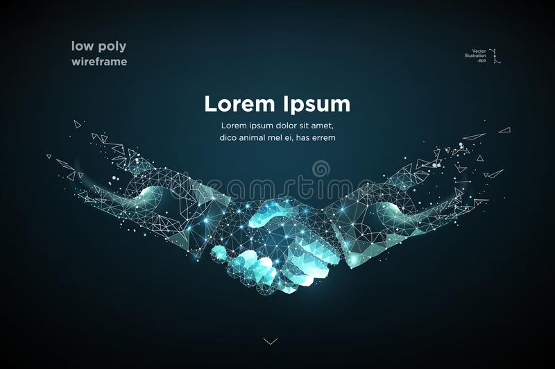 Poignée de main Blockchain Vecteur illustration de vecteur