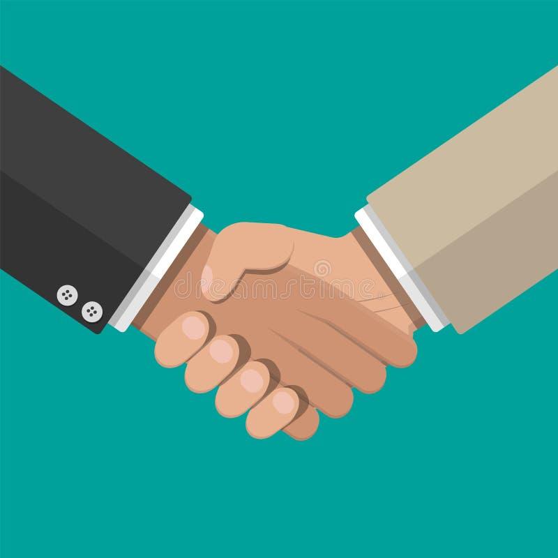 Poignée de main de Businessmans Se serrer la main illustration stock