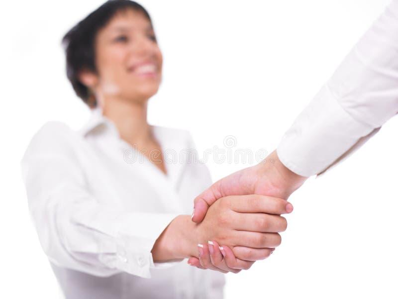 Poignée de main de prise de contact image libre de droits