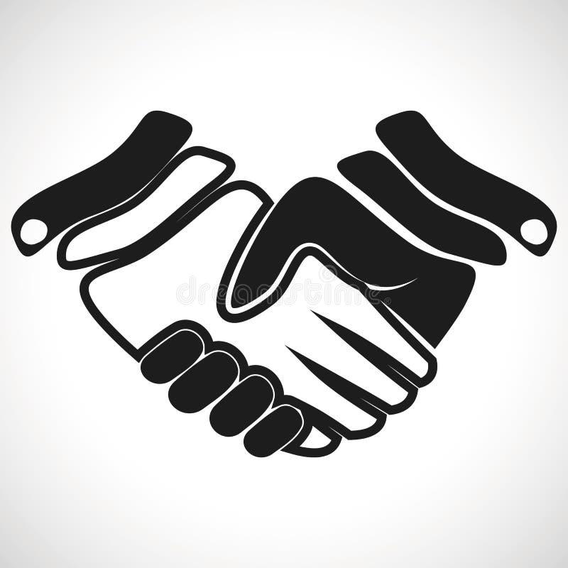 Poignée de main de vecteur d'icône d'illustration illustration stock