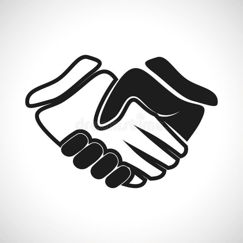 Poignée de main de vecteur d'icône d'illustration illustration de vecteur