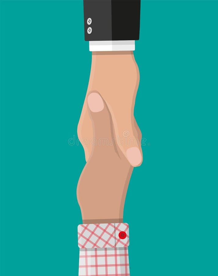 Poignée de main entre deux personnes Se serrer la main illustration de vecteur