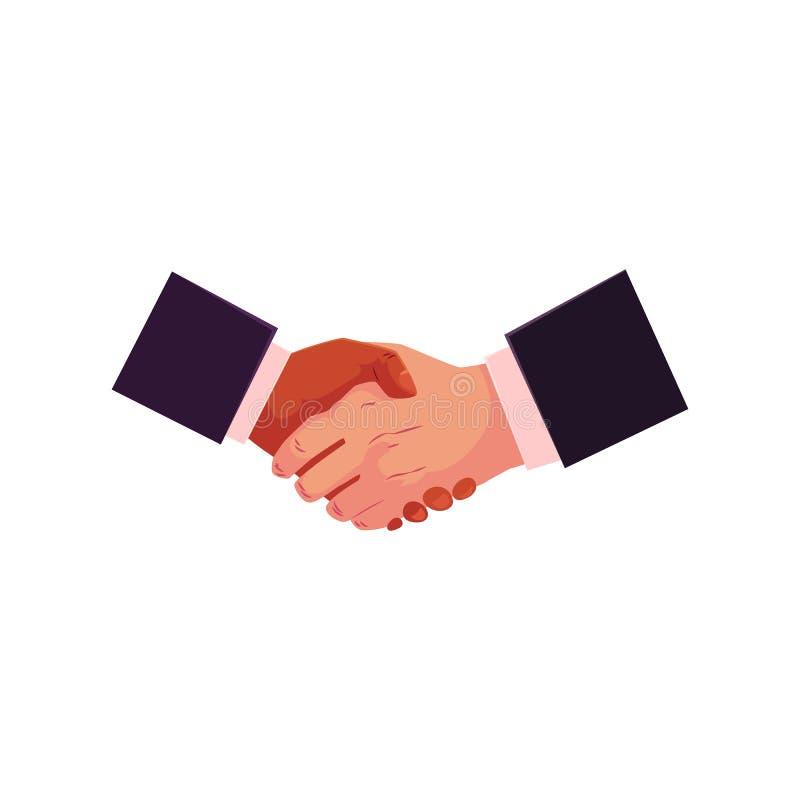 Poignée de main, secousse de main, affaire, concept de partneship illustration libre de droits