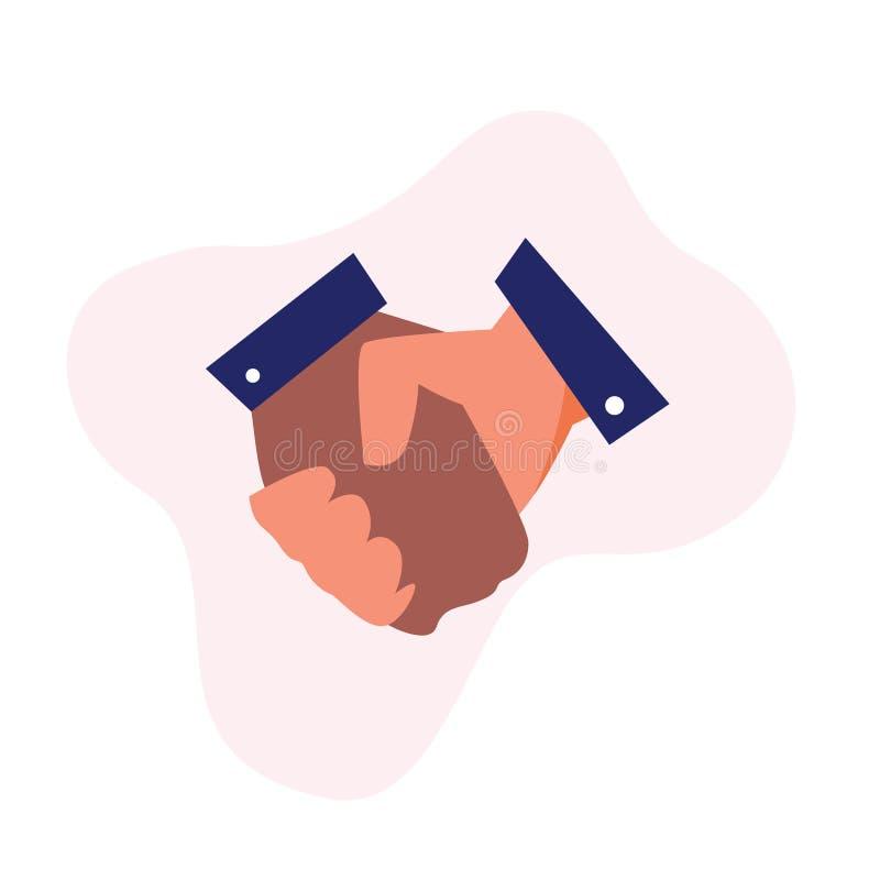 Poignée de main de société d'associés illustration de vecteur