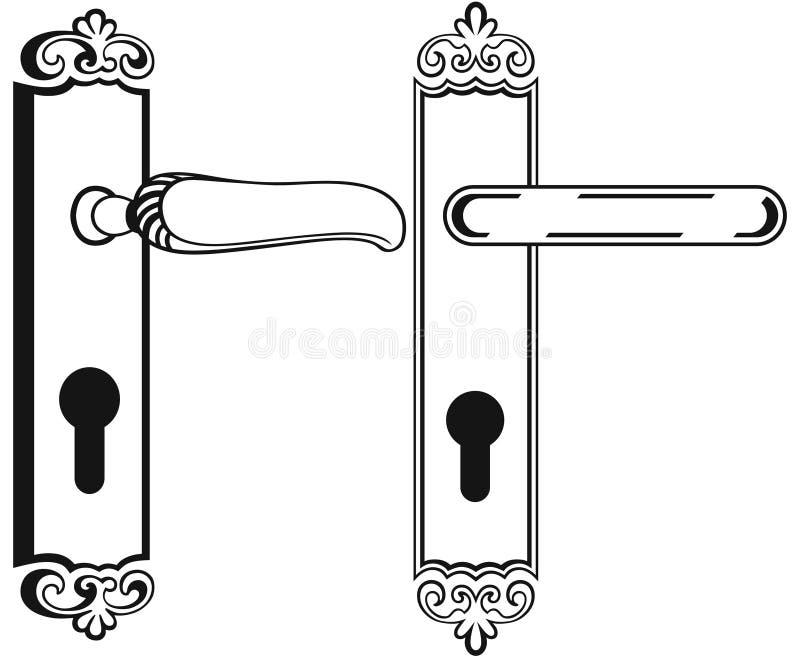Poignée de porte illustration stock