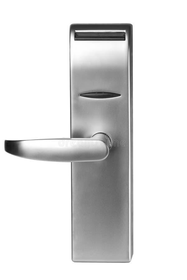 Poignée de porte d'isolement photo stock