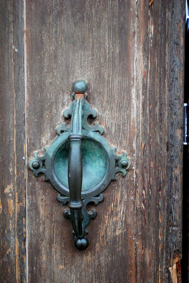 Poignée de porte de turquoise de vintage image stock
