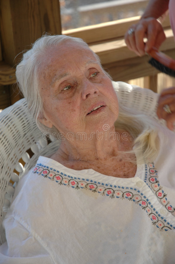 Download Poignant Moment stock image. Image of life, grandmother - 104011