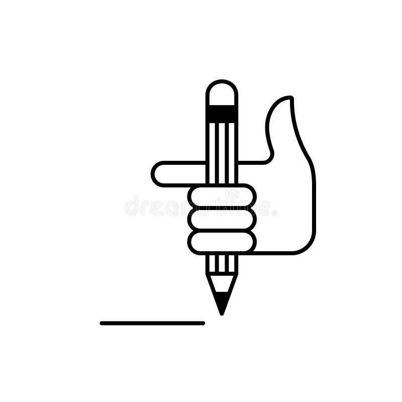 Poignet et crayon 3 illustration libre de droits