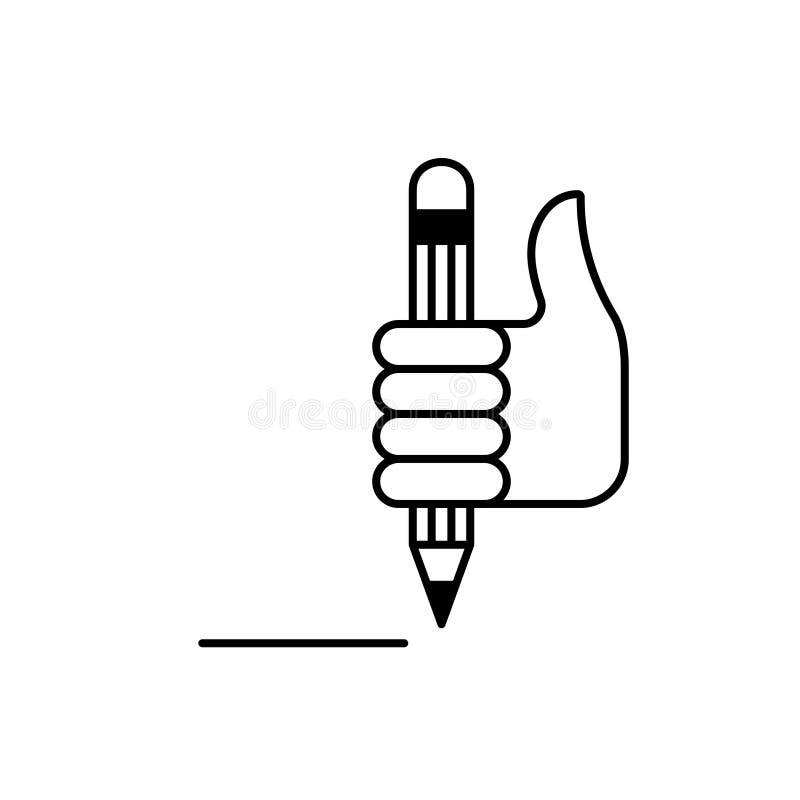 Poignet et crayon 2 illustration stock