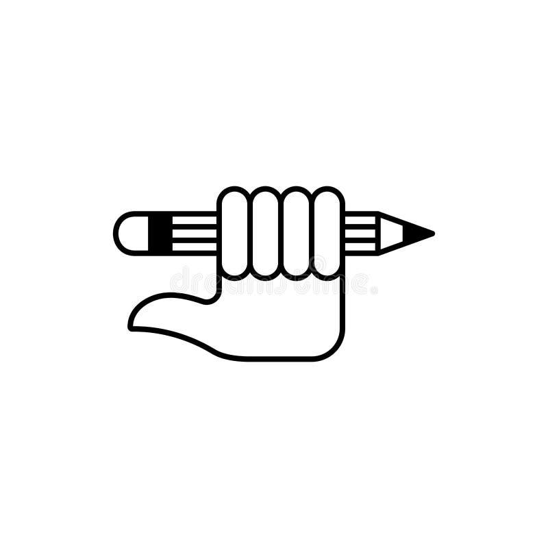 Poignet et crayon 6 illustration de vecteur