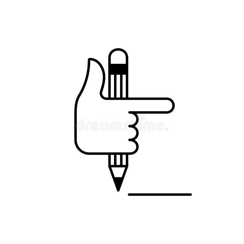 Poignet et crayon 5 illustration de vecteur