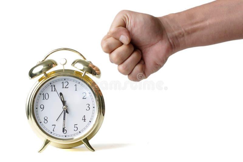 Poinçon de l'horloge photographie stock