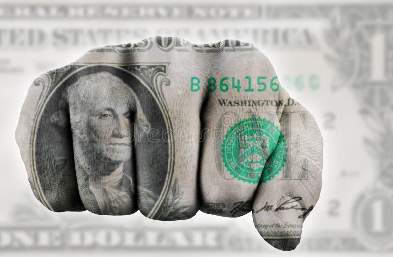 poing un du dollar nous images libres de droits