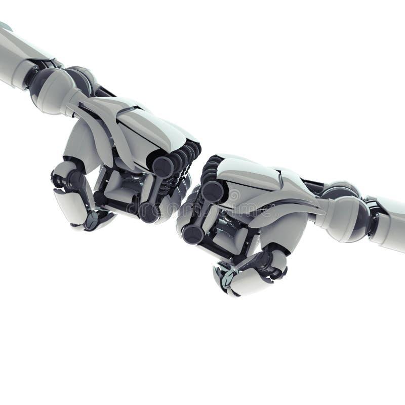 Poings robotiques illustration libre de droits