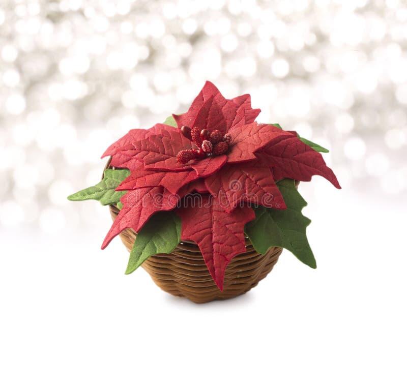 Poinsettia в корзине Handmade ткань пен-Иран цветка иллюстрация вектора