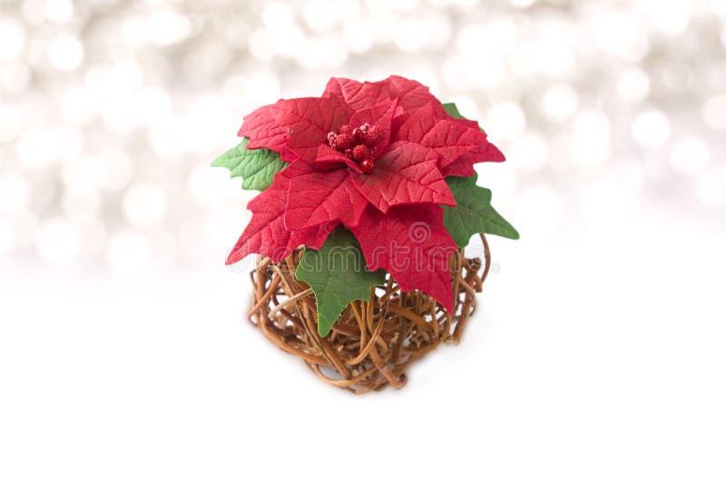 poinsettia Handmade foamiran ткани цветка стоковые изображения