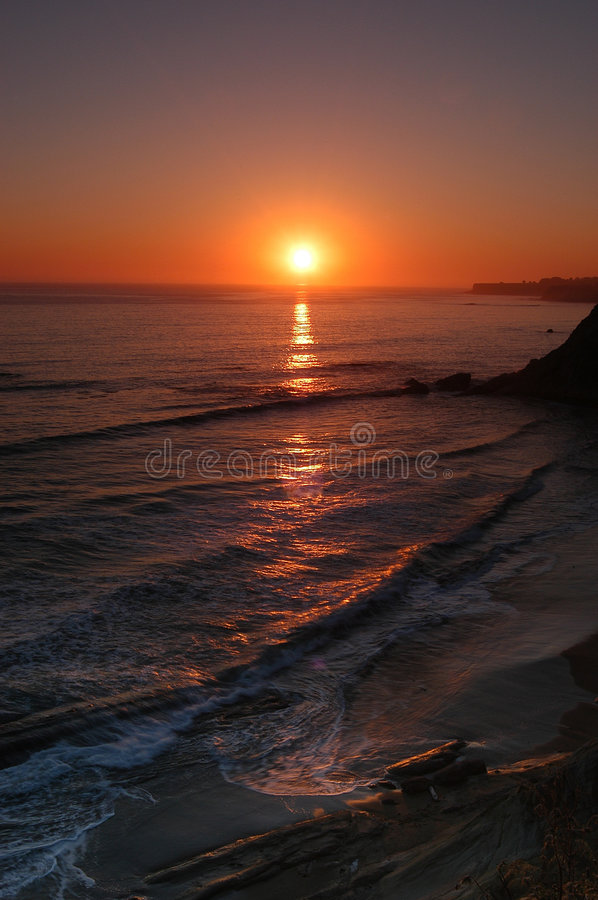 Point Arena, Sunset royalty free stock photos