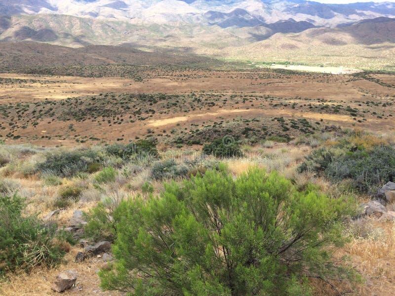 Point Arizona de coucher du soleil images libres de droits