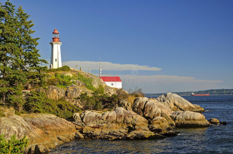 Point Atkinson Lighthouse. In West Vancouver, Canada royalty free stock photo