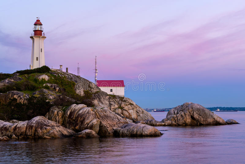 Point Atkinson Lighthouse, West Vancouver, Canada. Point Atkinson Lighthouse, Lighthouse Park, West Vancouver, British Columbia, Canada stock photography
