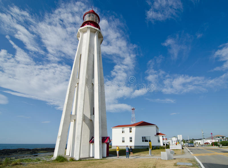 Point-au-Pere Lighthouse, Quebec stock image