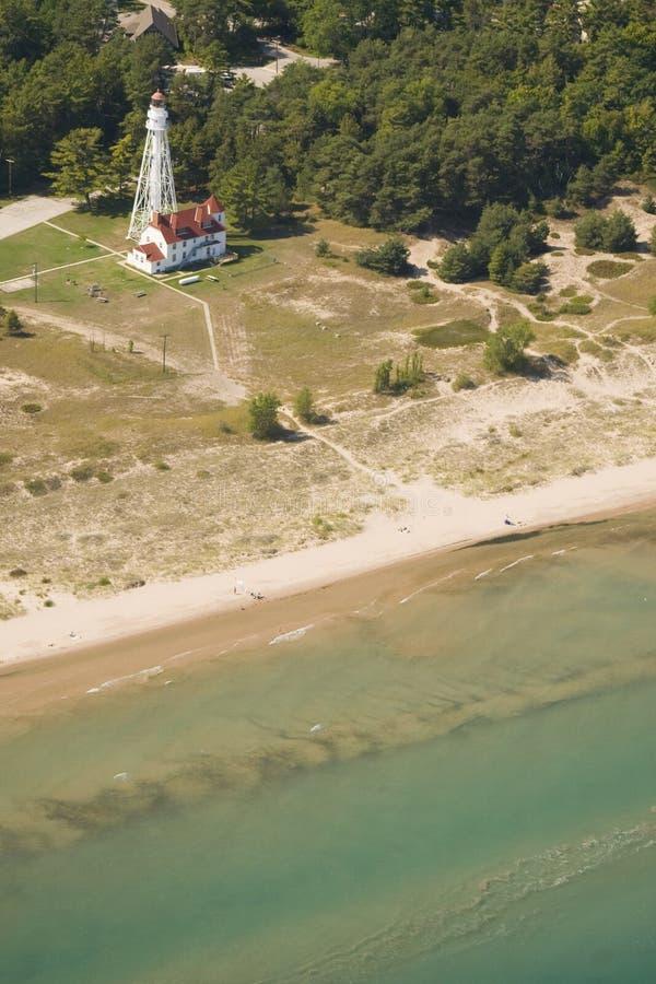Point beach light house royalty free stock photo