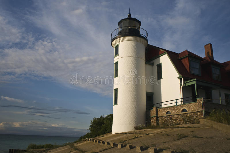 Point Betsie Light House Tower royalty free stock photography