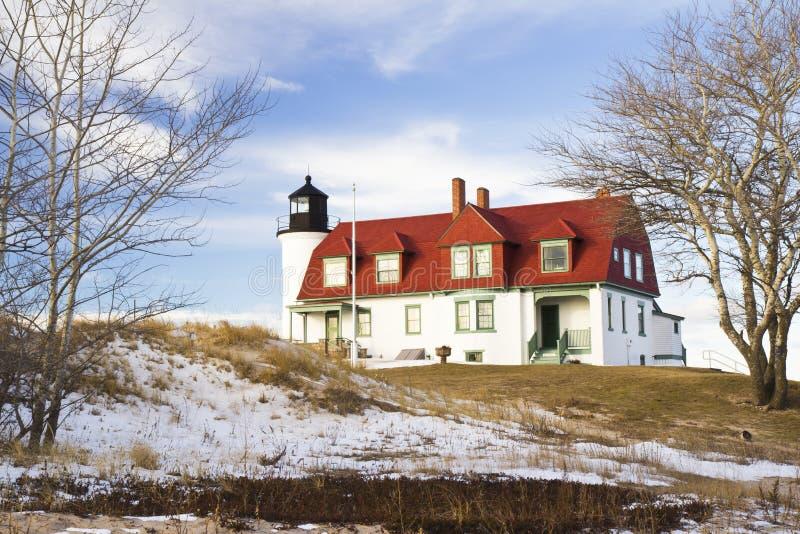 Point Betsie Lighthouse. On Lake Michigan near Frankfort, Michigan stock photos