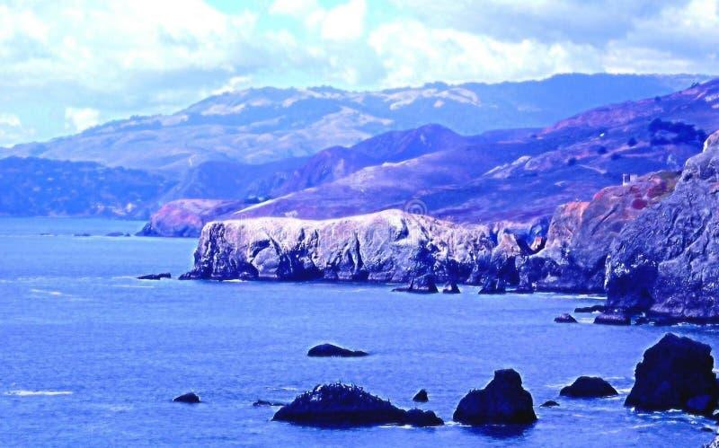 Download Point Bonita coastline stock photo. Image of outside, america - 39680