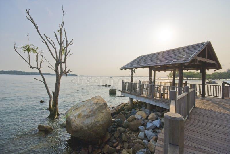 point côtier Singapour de changi de promenade image libre de droits