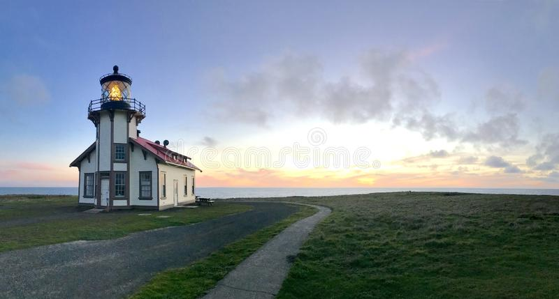 Point cabrillo lighthouse royalty free stock image