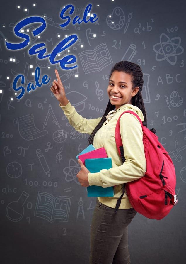 Point d'écolière en signe de vente images libres de droits