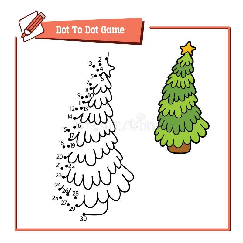 Point d'arbre de Noël à pointiller illustration libre de droits