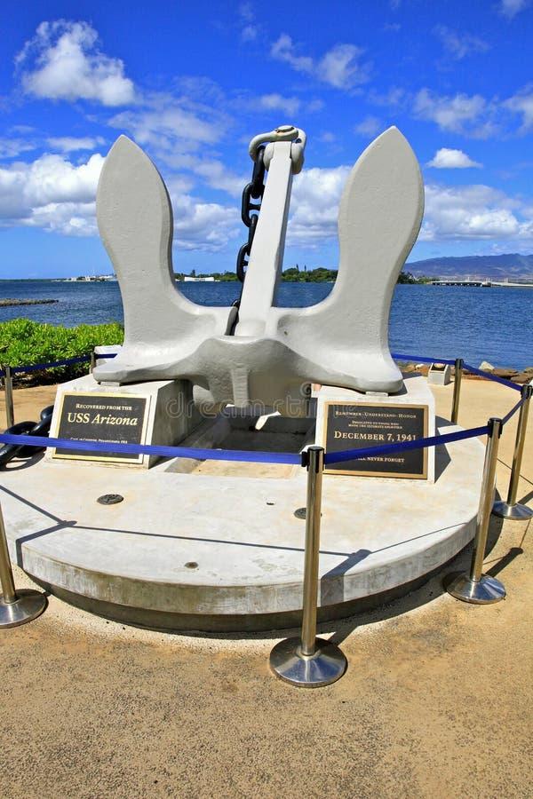 Point d'attache de mémorial d'USS Arizona image libre de droits