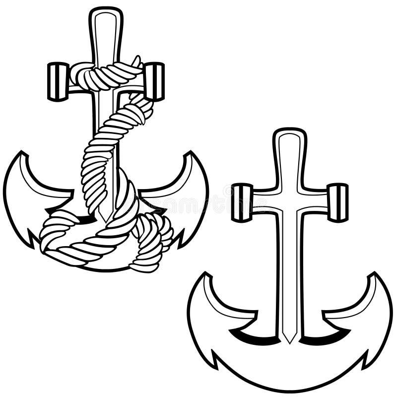 Point d'attache Roped illustration de vecteur