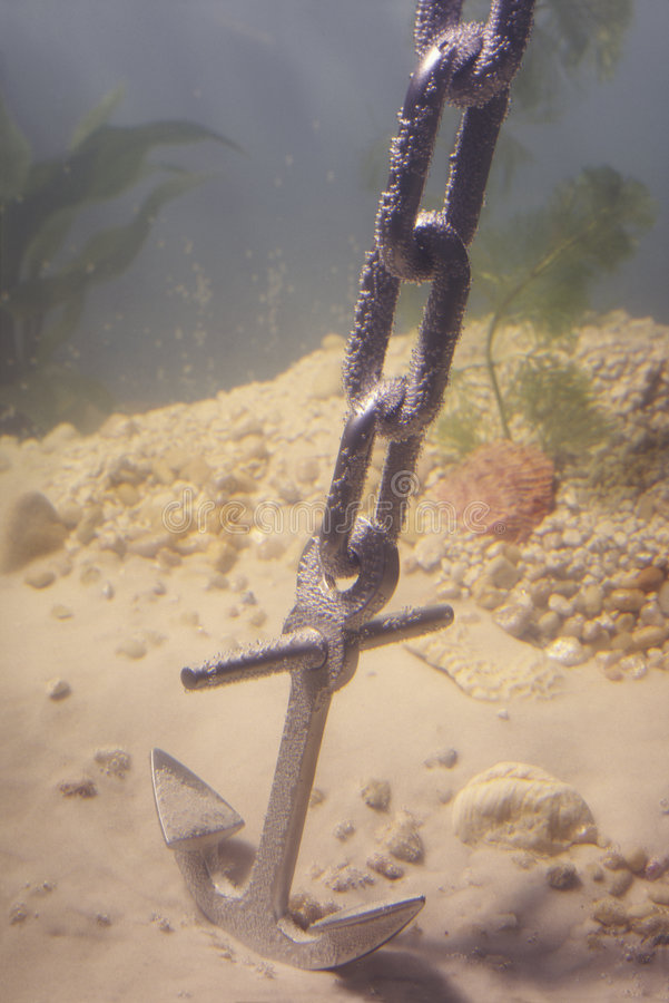 Point d'attache sur le fond océanique photographie stock libre de droits