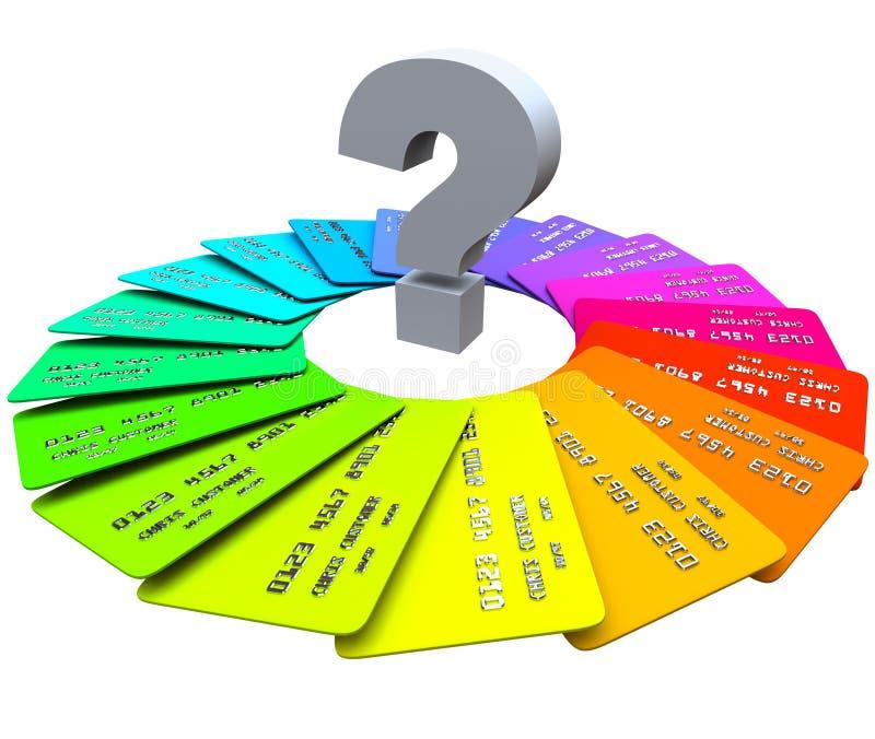Point d'interrogation - cartes de crédit illustration stock