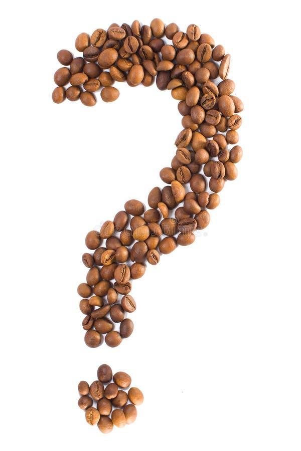 Point d'interrogation des grains de café photo stock