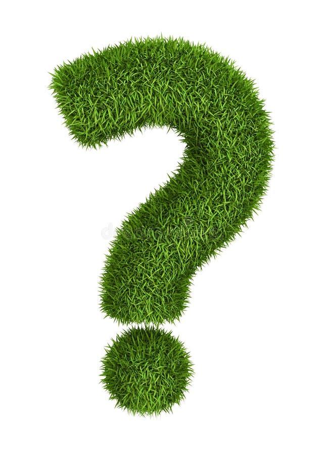 Point d'interrogation naturel d'herbe illustration de vecteur