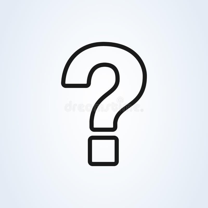 Point d'interrogation, style plat de symbole d'aide de schéma Graphisme d'isolement sur le fond blanc Illustration de vecteur illustration libre de droits