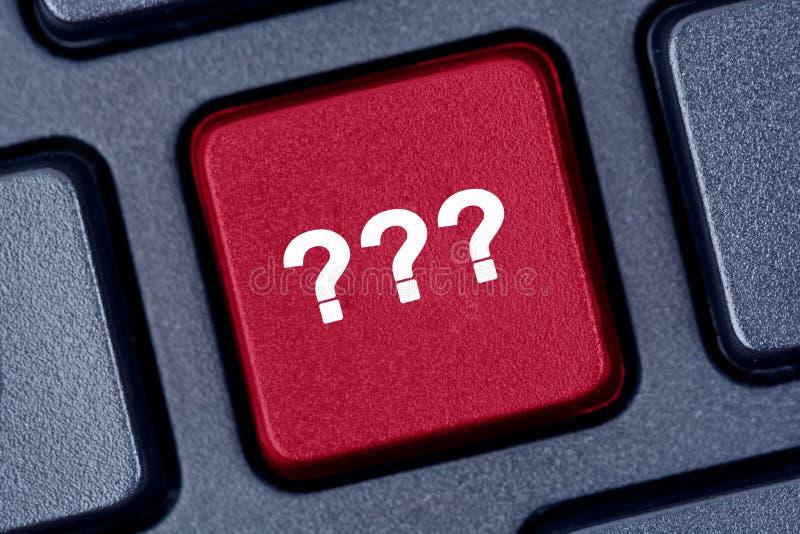 Point d'interrogation sur le clavier images libres de droits