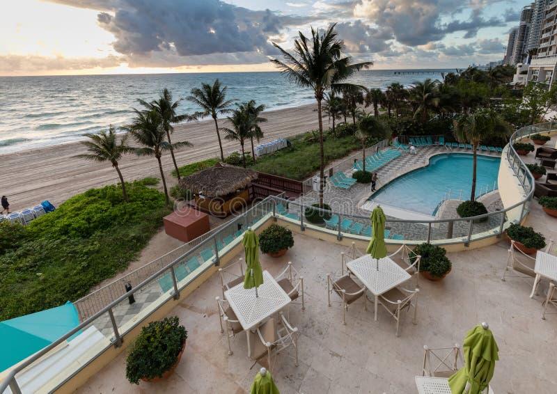Point d'océan d'hôtel de tourisme de DoubleTree, Miami Beach du nord image libre de droits