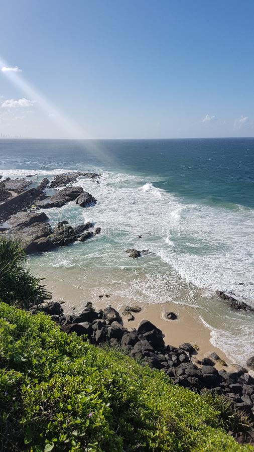 Point Danger Lookout at Gold Coast in Queensland Australia stock photo